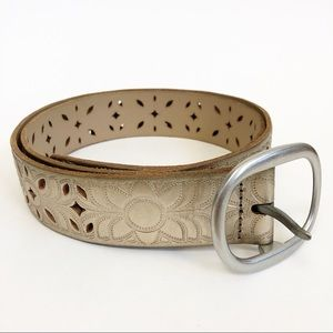 Fossil Gold Cut Out Leather Belt